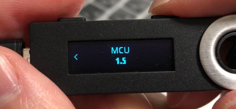 Ledger Nano Sをファームウェア アップデート